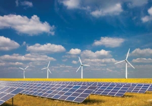 Image of solar panels and windmills