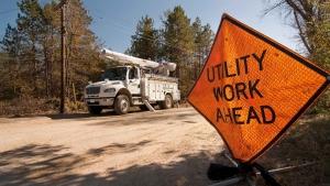 Dakota Electric Association line work picture