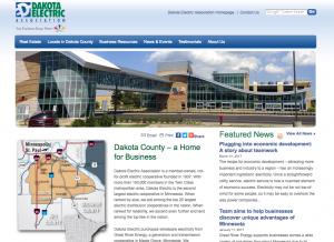 Screenshot of economic development site