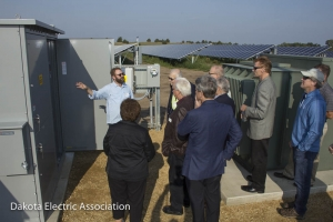 SoCore Energy personnel provided a tour at the solar facility.