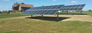 solar panels in a yard