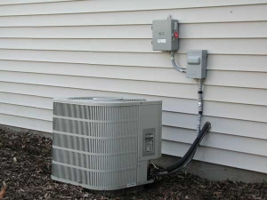 centrail air conditioner outside of house