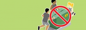 illustration of children playing near a pmh box