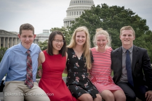 5 students in front of capitol building