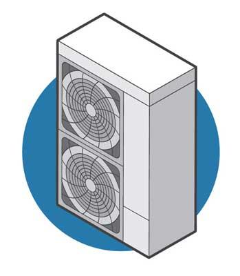 air-source heat pump illustration