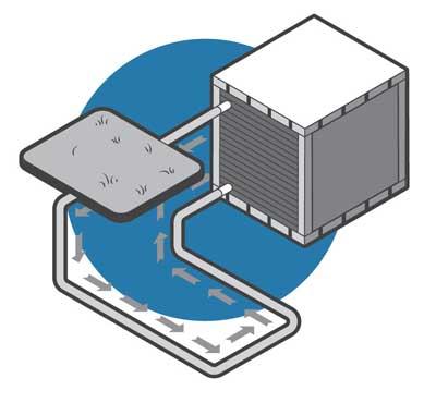 geothermal heat pump illustration