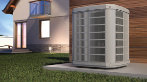 heat pump outside of home