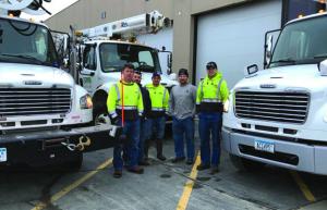 five person line crew from dakota electric