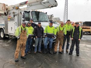 8 person line crew from dakota electric