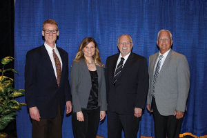 Photo of the four newly elected board directors