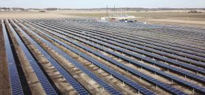 aerial image of 2 megawatt solar site near Randoloph