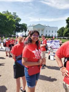 Sanjana Molleti outside White House