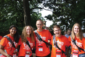 Dakota Electric's Youth Tour Delegate outside Mt. Vernon