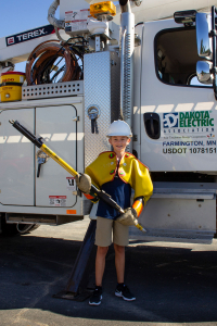 Logan and Bucket Truck