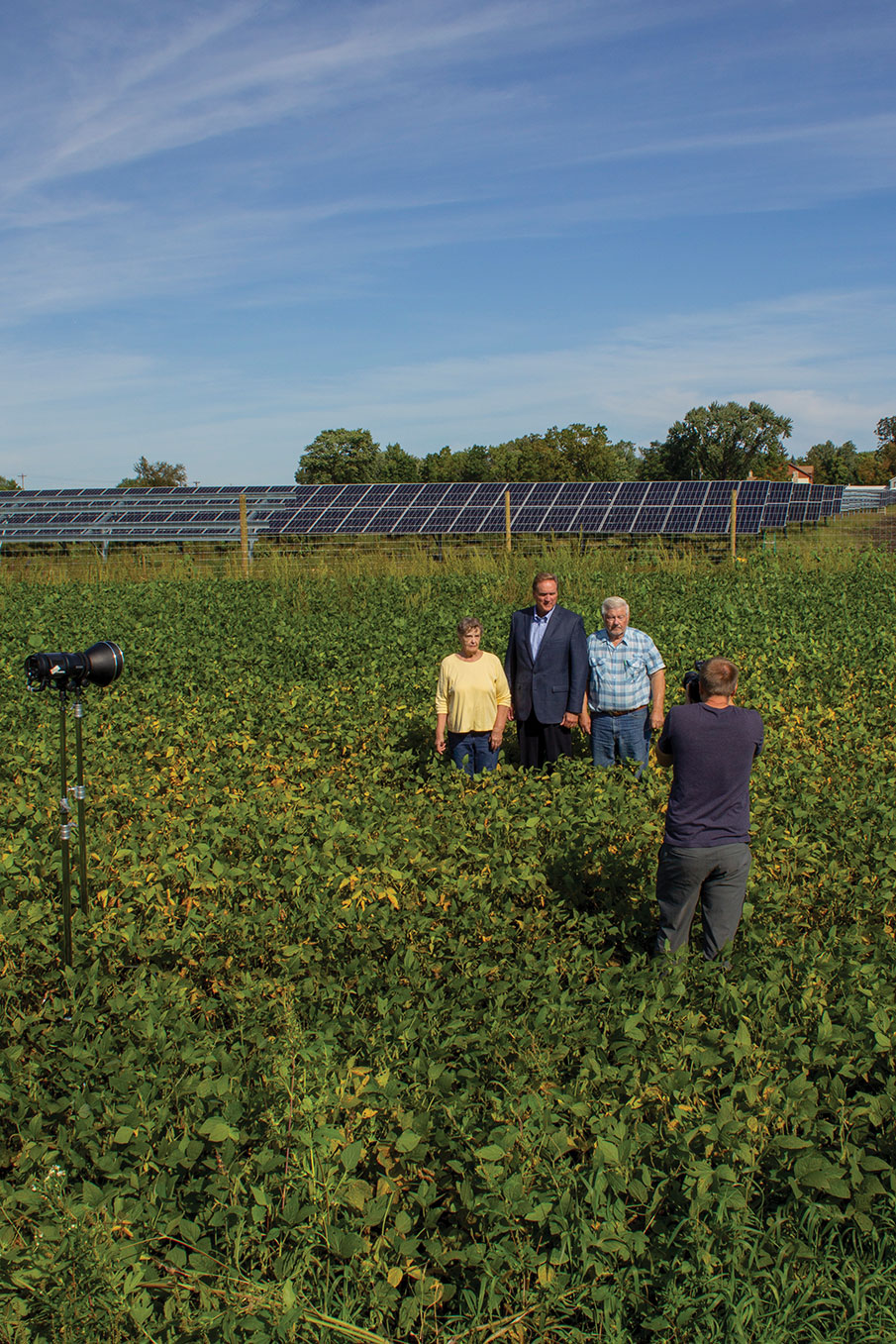 Greg Miller and Neilsens solar field