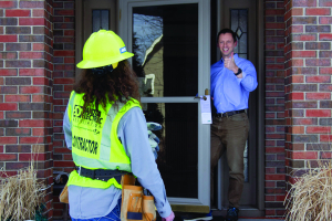 Meter contractor and homeowner