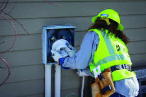 Contractor replaces meter
